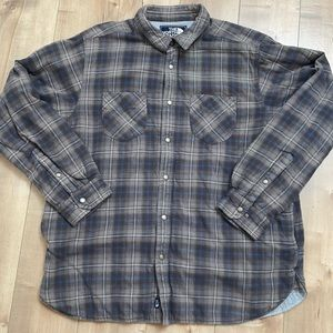 The North Face Plannel Plaid Blue/Gray Jacket XL